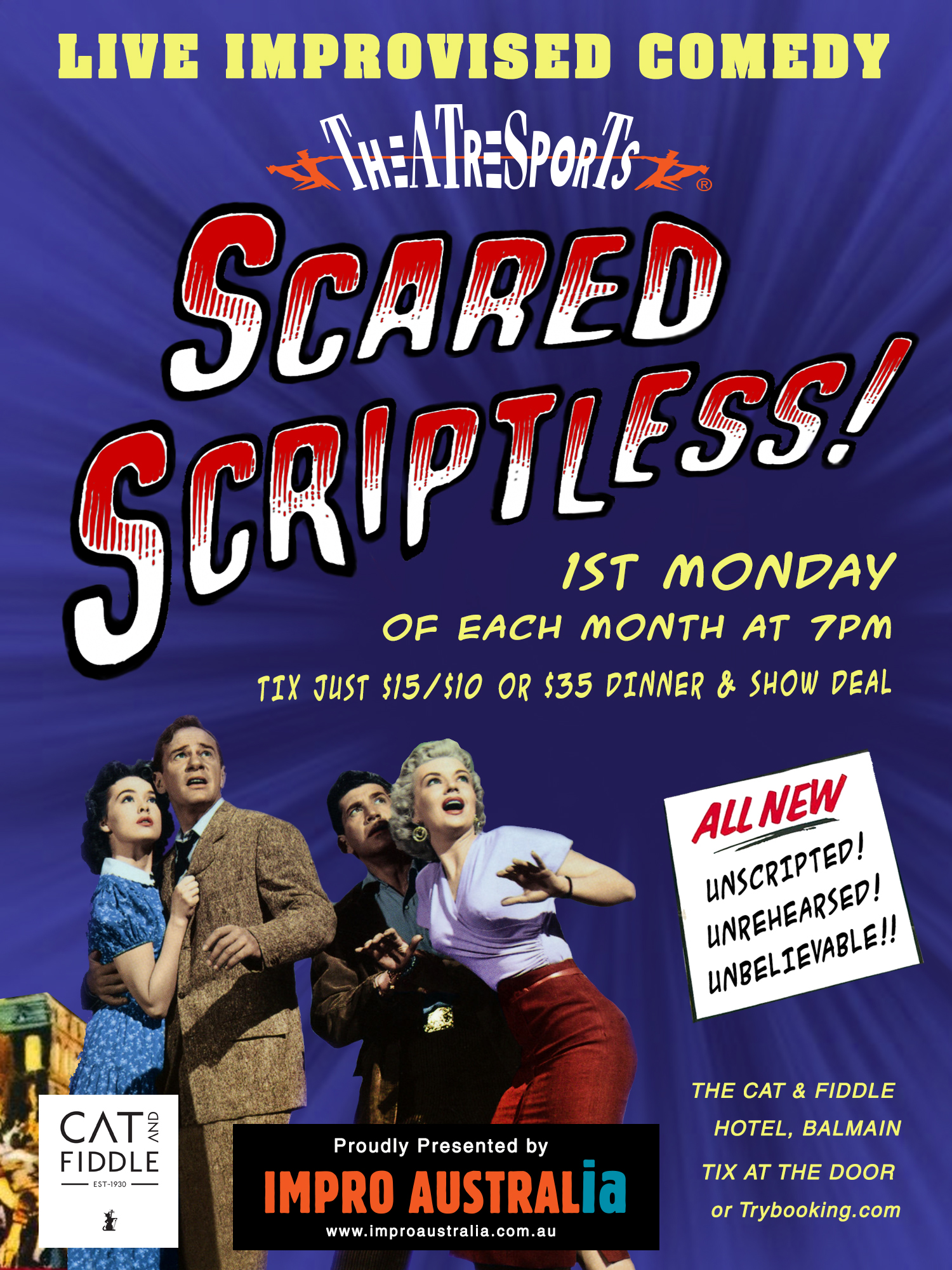 SCARED SCRIPTLESS Mon August 2nd